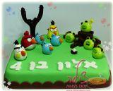 עוגת אנגרי בירדס ליום הולדת של אלון