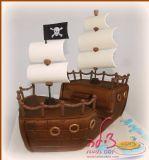 עוגת אוניית פיראטים. Pirate ship cake