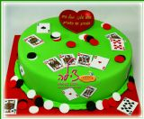 עוגת פוקר ליום הולדת של אבא ובעל אהוב. Poker birthday cake for a beloved dad and husband