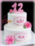 עוגת הבת מצווה של מאי ונועה