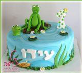 עידו אוהב צפרדעים וליום ההולדת שלו קיבל... עוגת צפרדעים!