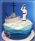 עוגת גיוס לחיל הים. Navy cake