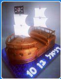 עוגת ספינת פיראטים ליום הולדת של דניאל