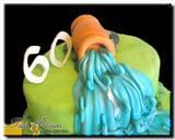 עוגת מפל מים - תקריב
