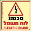 265 - שלט פולט אור סכנה לוח חשמל
