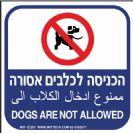 207 - שלט הכניסה לכלבים אסורה