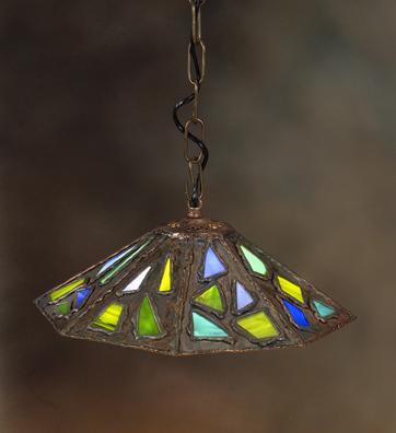 חנה דהן  -  תאורה  | דגם שמחה בכחול וירוק