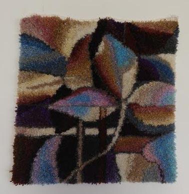 """חנה רוזנמן, שטיח קיר - צמר בקשירת וו, 70 על 70 ס""""מ"""