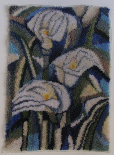 """חנה רוזנמן, שטיח קיר - צמר בקשירת וו, 70 על 100 ס""""מ"""