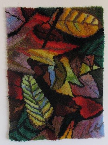 """חנה רוזנמן, שטיח קיר - צמר בקשירת וו, 70 על 95 ס""""מ"""