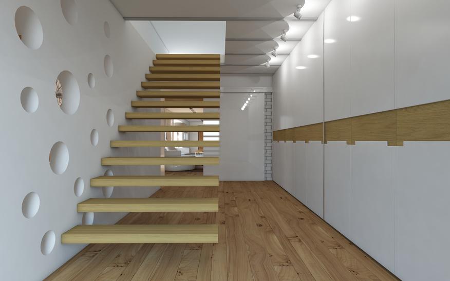 מדרגות מרחפות סולם יעקב