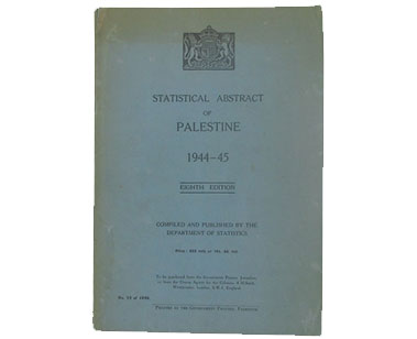 Statistical Abstract of Palestine 1944-1945: Eighth Edition