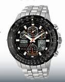 Atomic Timekeeping with Radio-Controlled Accuracy World Time in 43 Cities  2 Alarms 9 Minute Countdown Timer Perpetual Calendar  Rotating Slide Rule Beze Titanium, Black Ion Plating