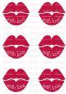 דף טרנספר - נשיקות גדולות כיתוב TR513