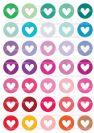 דף טרנספר - לבבות צבעוניים TR522