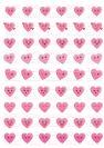 דף טרנספר - לבבות אימוג'י TR523