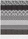 דף טרנספר - שחור לבן רקעים TR524