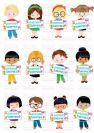 דף טרנספר - ילדים עם שלט TR547