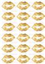 דף טרנספר - שפתיים זהב גדולות TR580