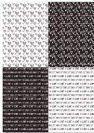 דף טרנספר - אהבה שחור לבן 4 רקעים TR590