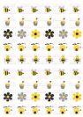 דף טרנספר - ראש השנה אפור צהוב TR638