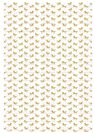 דף טרנספר - חד קרן זהב רקע TR657