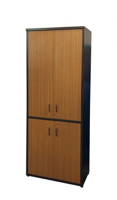 ארון מתכת דלתות עץ