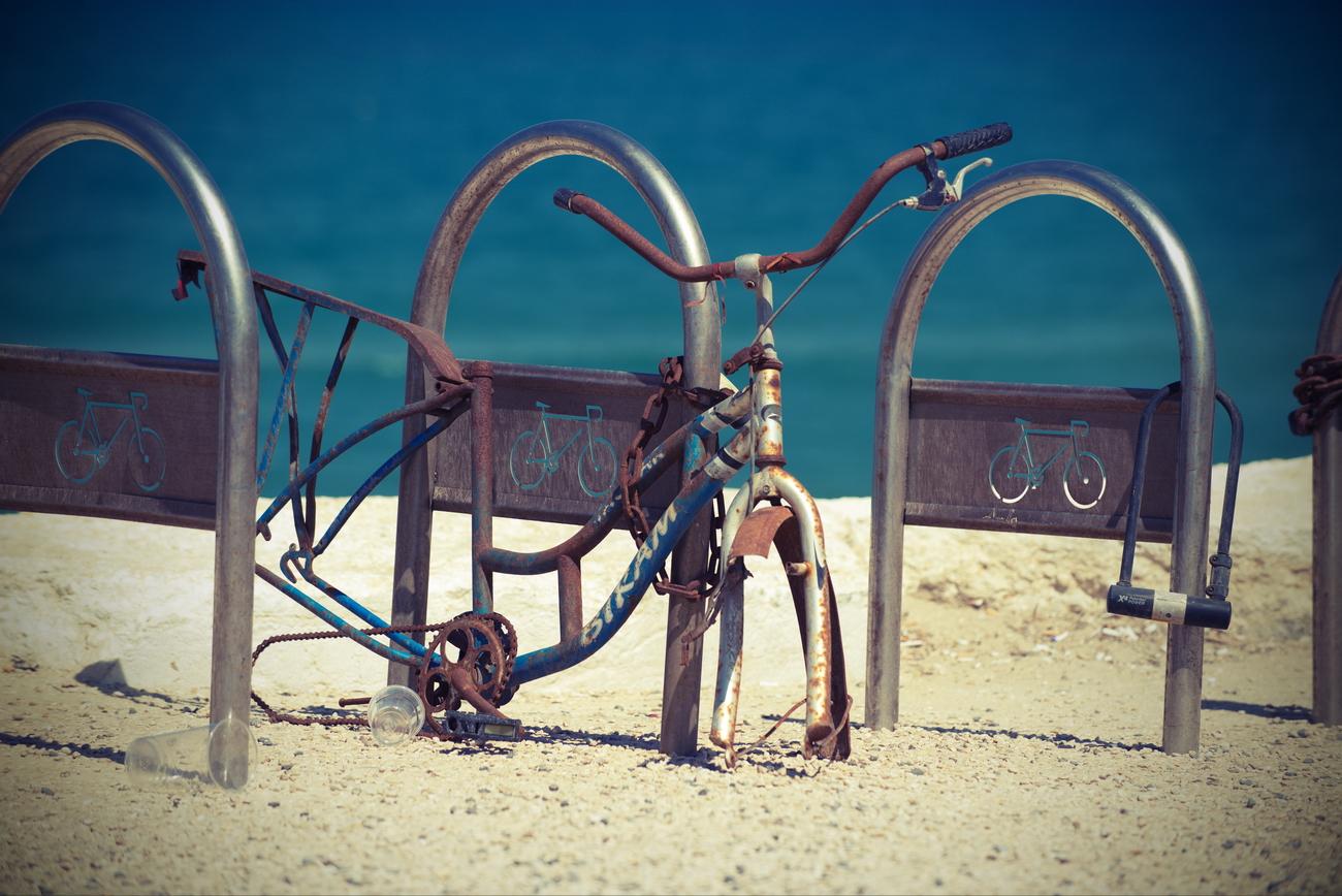 אופניים חלודות בתל אביב