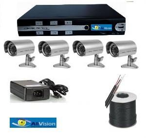 מערכת מעגל סגור DVR ל 8 מצלמות כולל 4 מצלמות 1200 tvl להרכבה עצמית