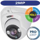 מצלמת אבטחה כיפה אינפרה עדשה 3.6 2MP סדרה PRO דגם +DI-390AHD36