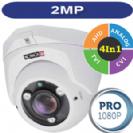 מצלמת אבטחה כיפה אינפרה עם עדשה משתנה 2.8-12 2MP סדרה PRO -PROVISION דגם DI-390AHDVF