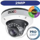 מצלמת כיפה אנטי ונדלית עדשה משתנה 2.8-12 2MP סדרה PRO דגם DAI-390AHDVF