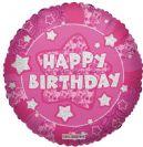 בלון עגול יום הולדת שמח