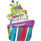 בלון עוגה ענק יום הולדת שמח