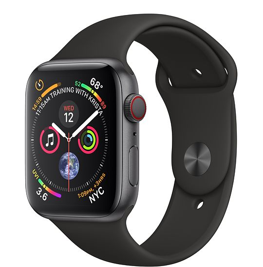 שעון חכם Apple Watch Series 4 44mm Aluminum Case Sport band GPS אפל