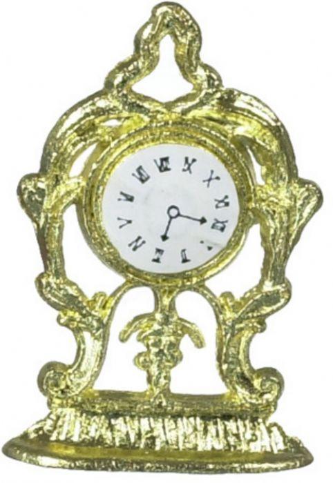 שעון שולחני מיניאטורי בעיצוב זהב עתיק