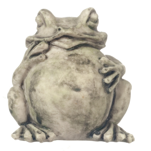 פסל קרפדה מיניאטורי לגינה