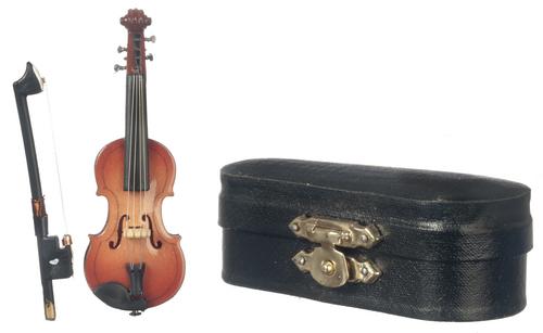כינור מיניאטורי עם נרתיק