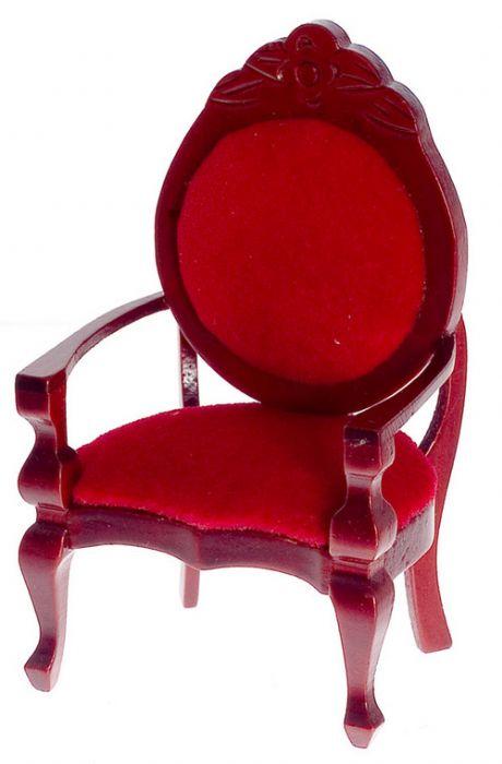 כורסא מיניאטורית אדומה
