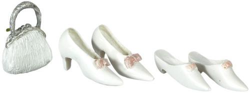 נעלי נשים ותיק מיניאטוריים לבנים