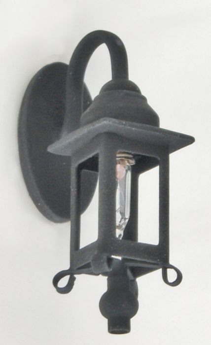 מנורת קיר שחורה מיניאטורית בעיצוב עתיק