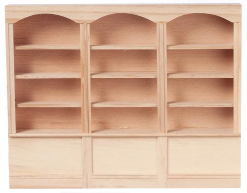 ספריית קשתות מיניאטורית מעץ