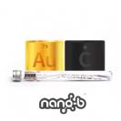 Nano-b מברשת שיניים עם סיבי זהב ופחם