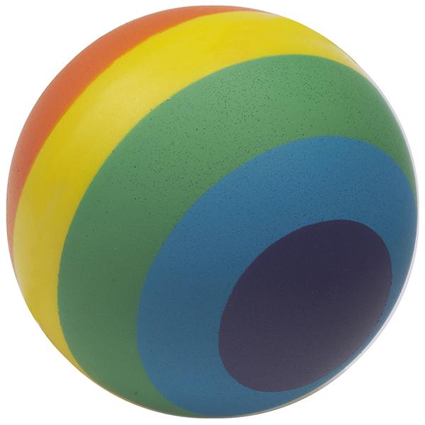 כדור גומי לחיץ צבעי הקשת