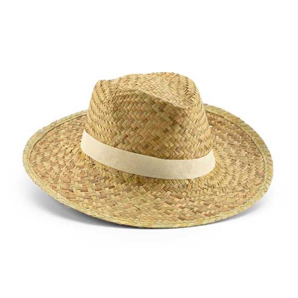 כובע קש כהה