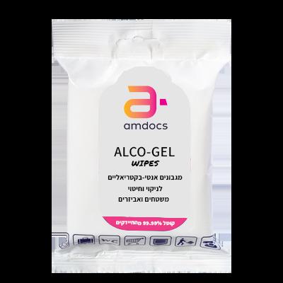 מטליות לחיטוי ALCO-GEL wipes