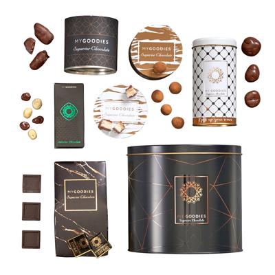 מארז שוקולדים בקופסת פח