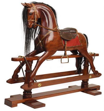 סוס עץ ויקטוריאני סוס נדנדה 0090