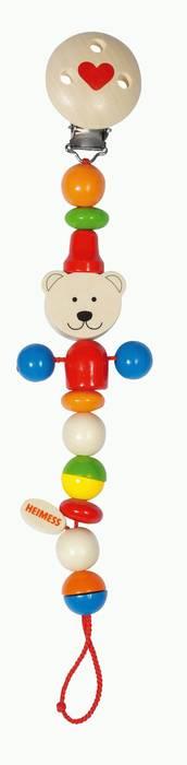 צעצועים לגיל הרך-שרשרת חרוזים דובון HEIMMESS