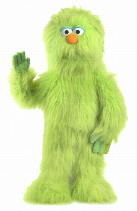 בובת תיאטרון מפלצת גדולה ירוקה 0845